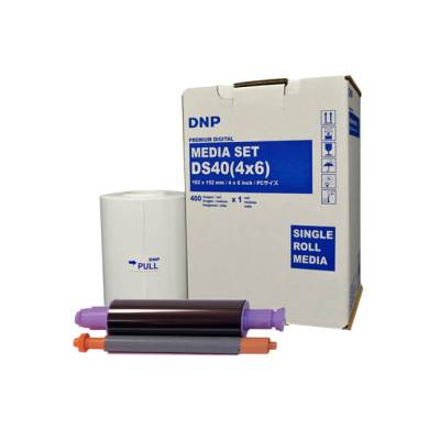 "DNP DS40 4x6"" Dye Sub Printer Single Roll Media Kit (1 Roll, 400 Prints)"