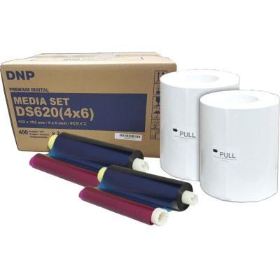 "DNP DS620A 4x6"" Dye Sub Printer Media Kit (2 Rolls, 400 Prints)"