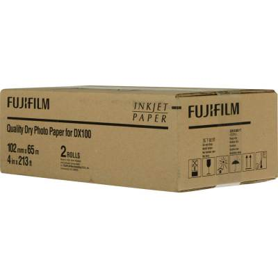 "Fujifilm Frontier-S DX100 4""x213' Quality Dry Photo Paper (2 Rolls, Glossy)"