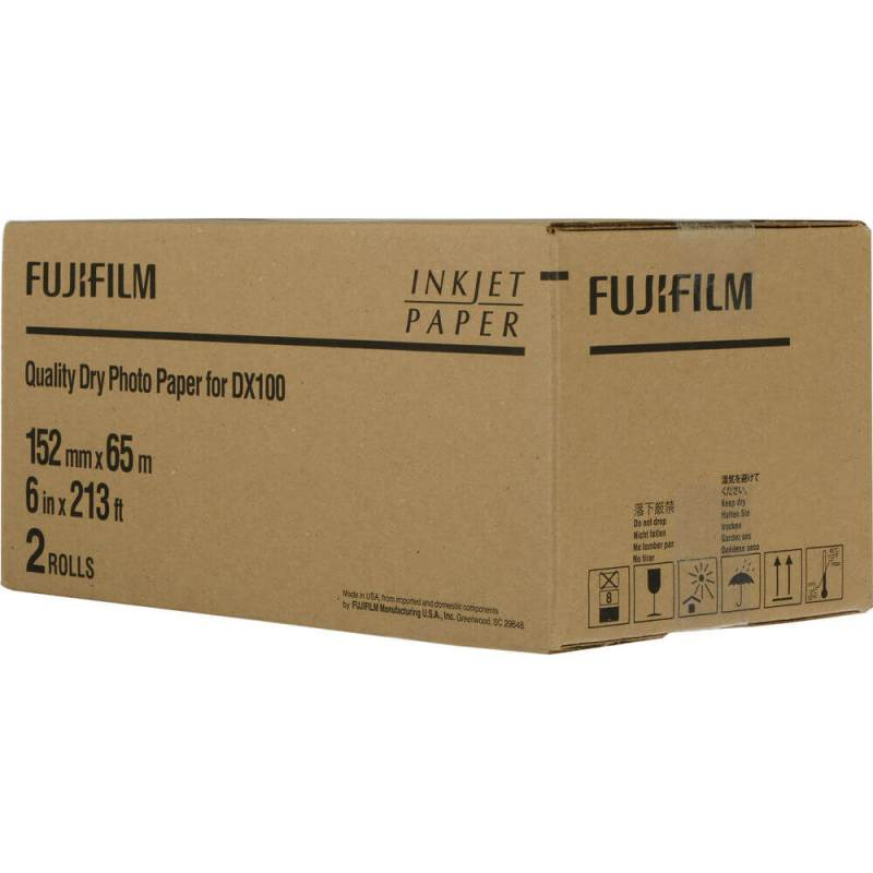 "Fujifilm Frontier-S DX100 6""x213' Quality Dry Photo Paper (2 Rolls, Glossy)"