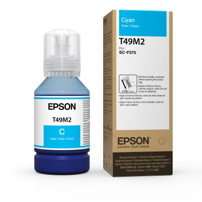 Epson T49M2 UltraChrome DS Cyan Ink for SureColor F570 (140 mL)