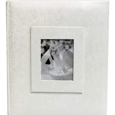 Wedding Album 4x6″ Floral Design 300 Photo Inserts (White)