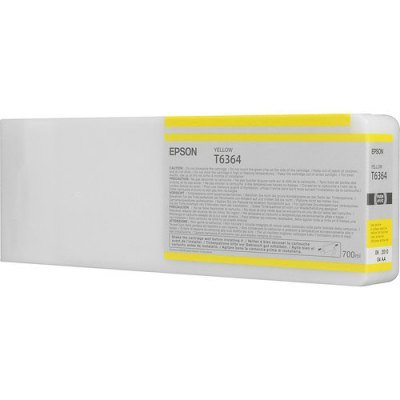 Epson T636400 UltraChrome HDR Yellow Ink Cartridge (700 ml)