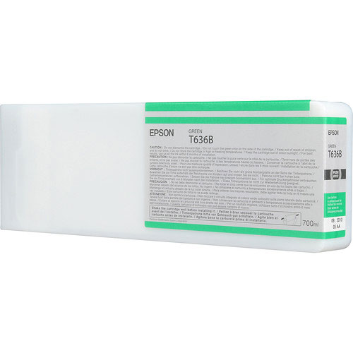 Epson T636B00 UltraChrome HDR Green Ink Cartridge (700 ml)