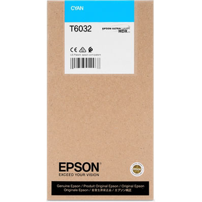 Epson T603200 Cyan UltraChrome K3 Ink Cartridge (220 ml)