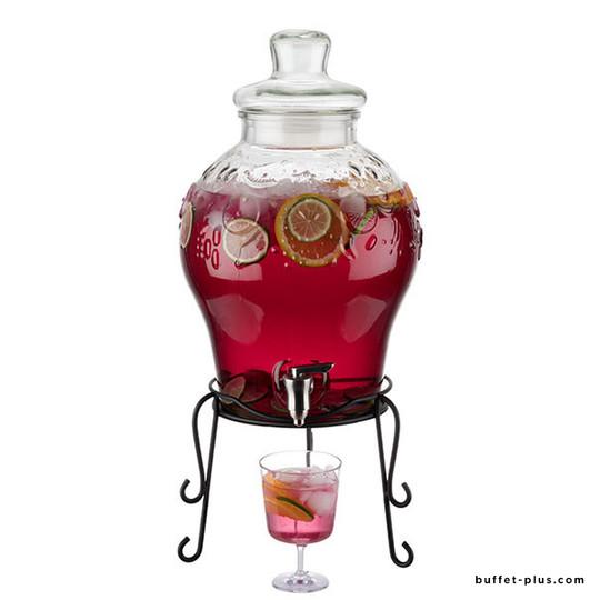 fontaine a boisson verre avec robinet