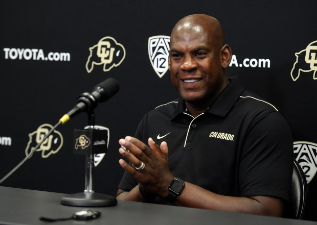 Mel Tucker during the weekly CU ...