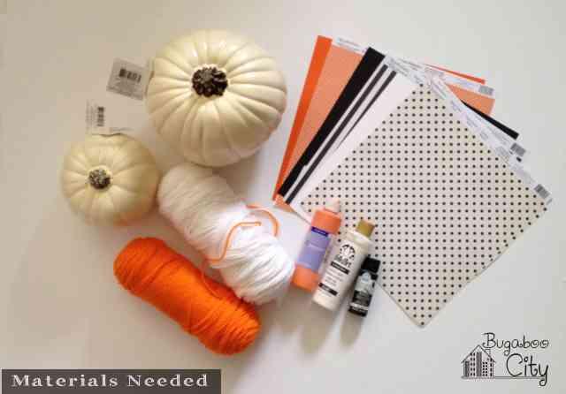Vintage Clown Pumpkins, materials needed
