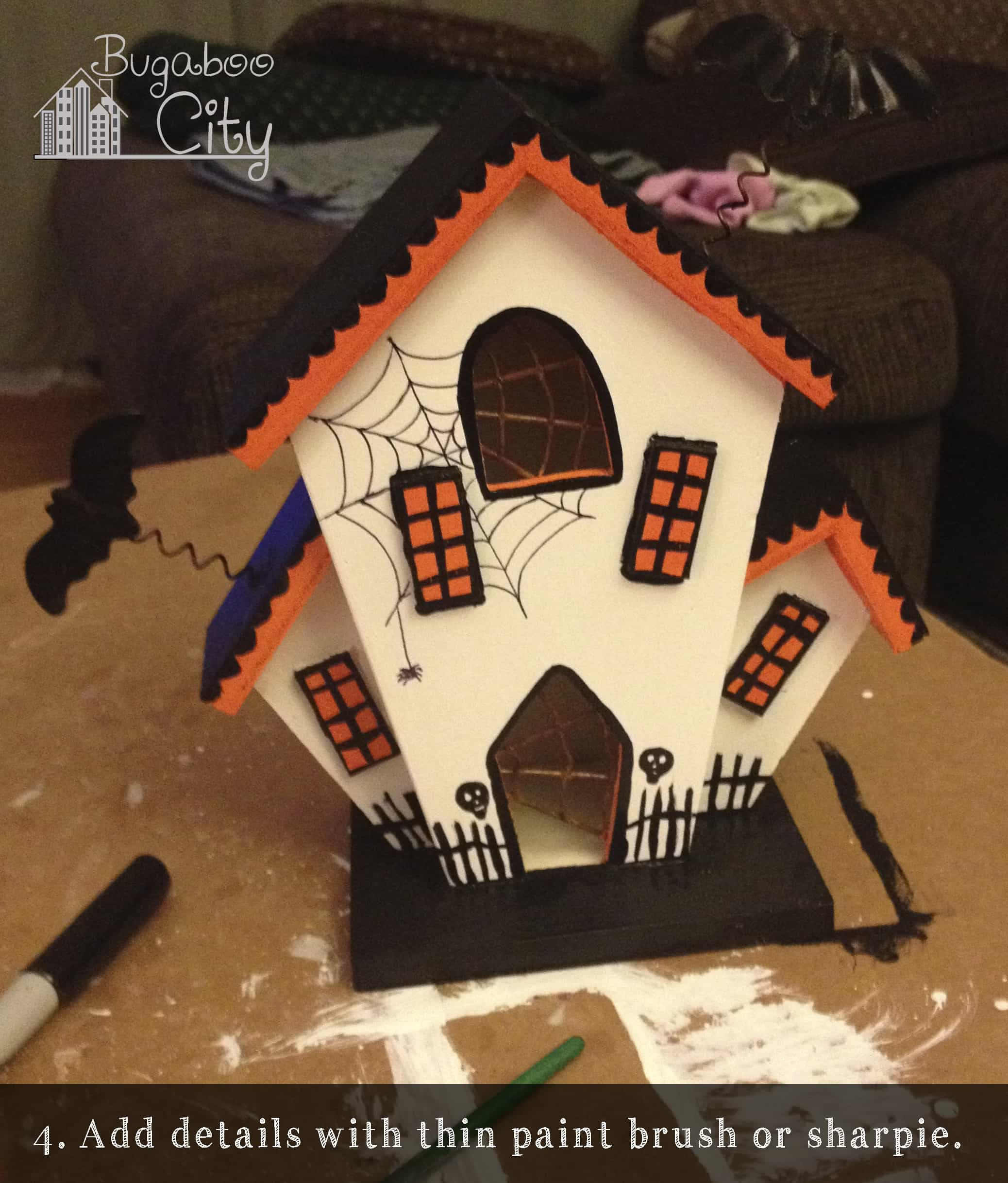 Diy halloween haunted houses bugaboocity for How to make a cardboard haunted house