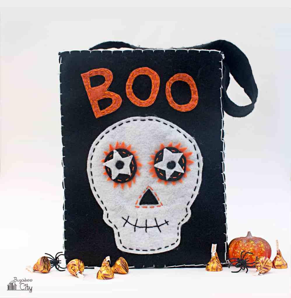 DIY Halloween Treat Bag with Felt