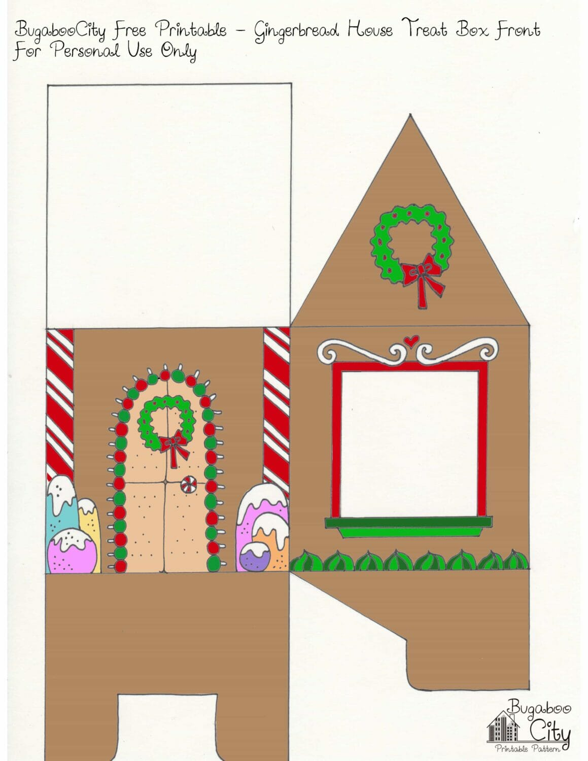 Gingerbread House Printable Front With