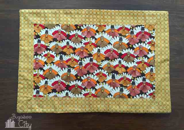 Thanksgiving placemat for Bugaboo