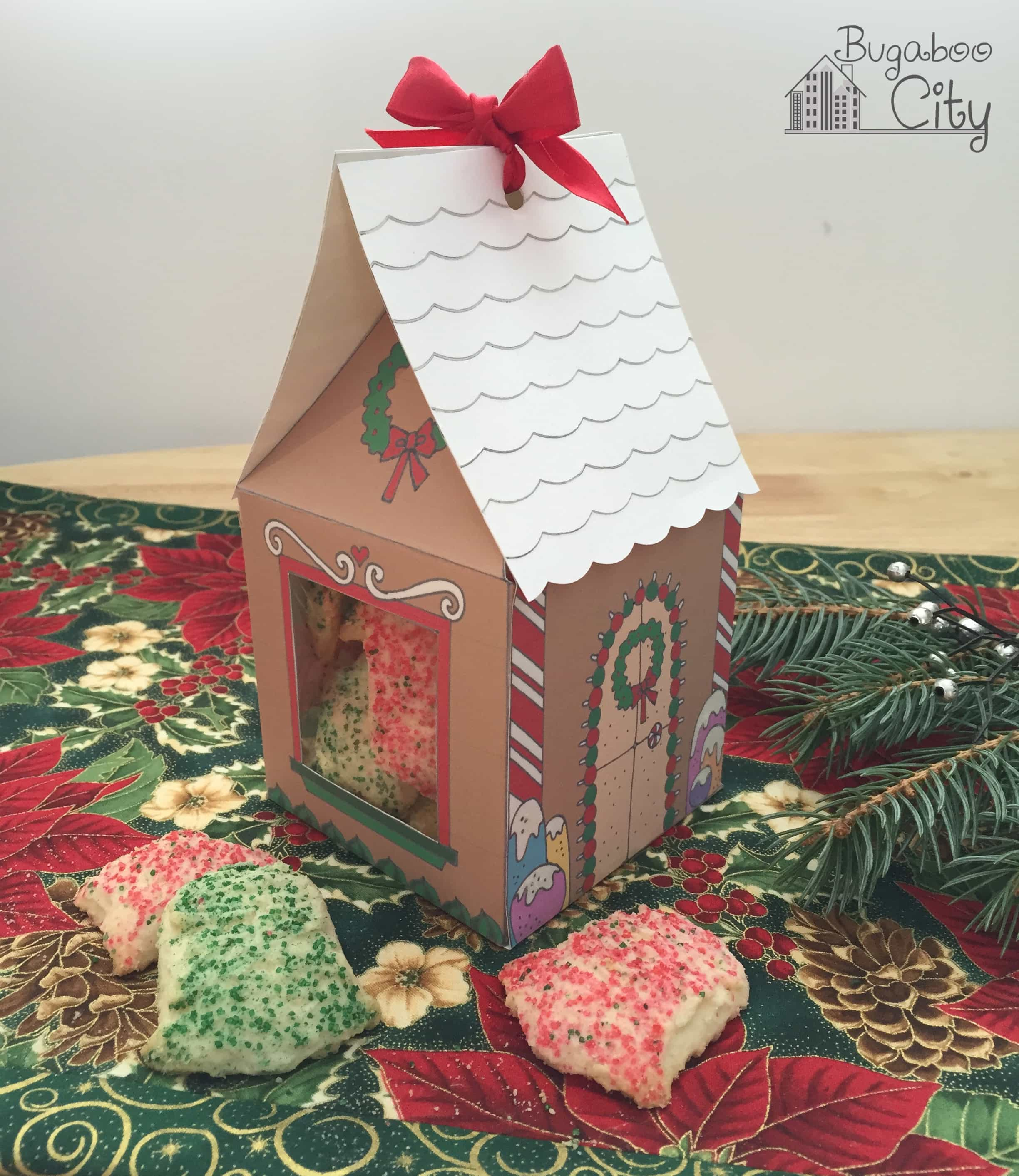 Gingerbread house treat boxes bugaboocity