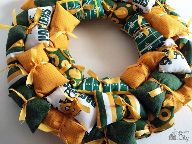 NFL Pillow Wreath Tutorial