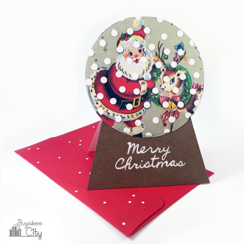 Snowglobe Holiday Card