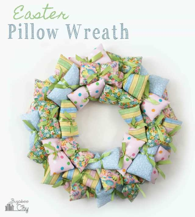 Easter Pillow Wreath