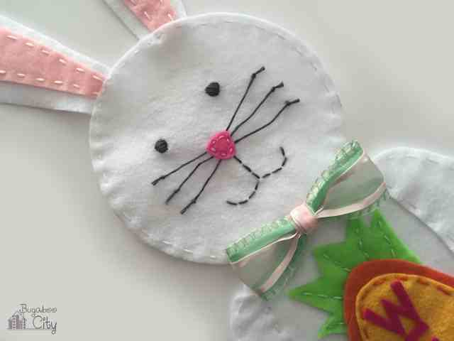 DIY Easter Project: Felt Bunny Welcome Sign