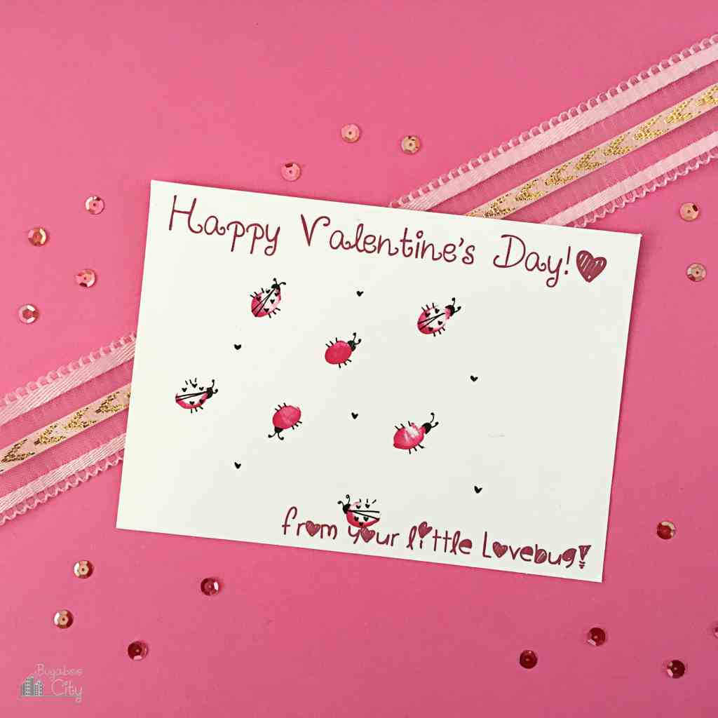 Quick and easy valentine from your toddler