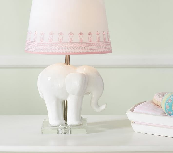 PotteryBarnKids Ceramic Elephant Lamp Base