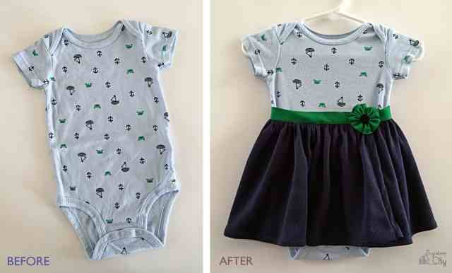 7 Simple Ways to Make Boy Onesies into Girl Onesies!