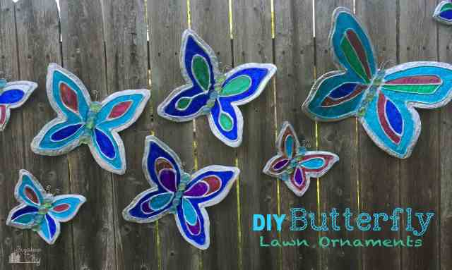 DIY Butterfly Lawn Ornaments Tutorial