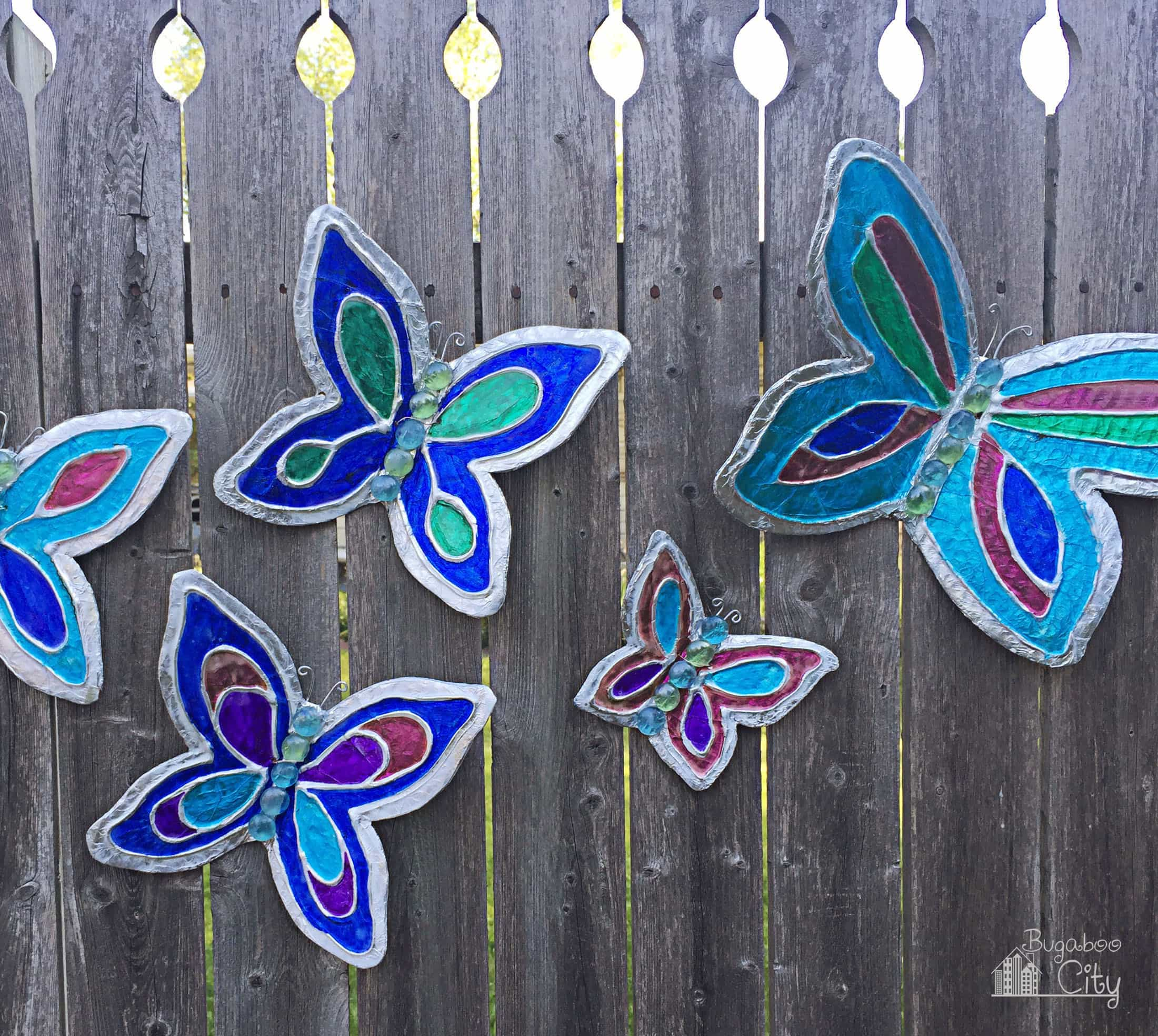 Butterfly lawn ornaments - Diy Butterfly Template Printable Once They Have Dried Your Butterflies Are Finished And Ready To