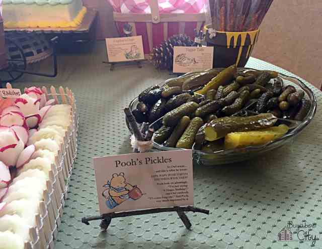 Winnie the Pooh Party Food Ideas - Pooh's Pickles
