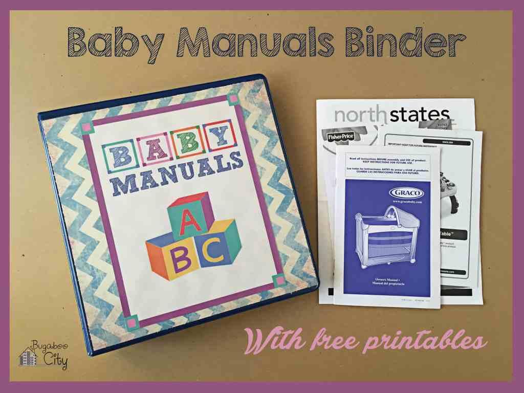 Baby Manuals Binder Printables 11