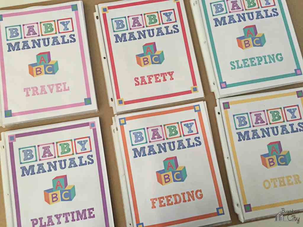 Baby Manuals Binder Printables 4