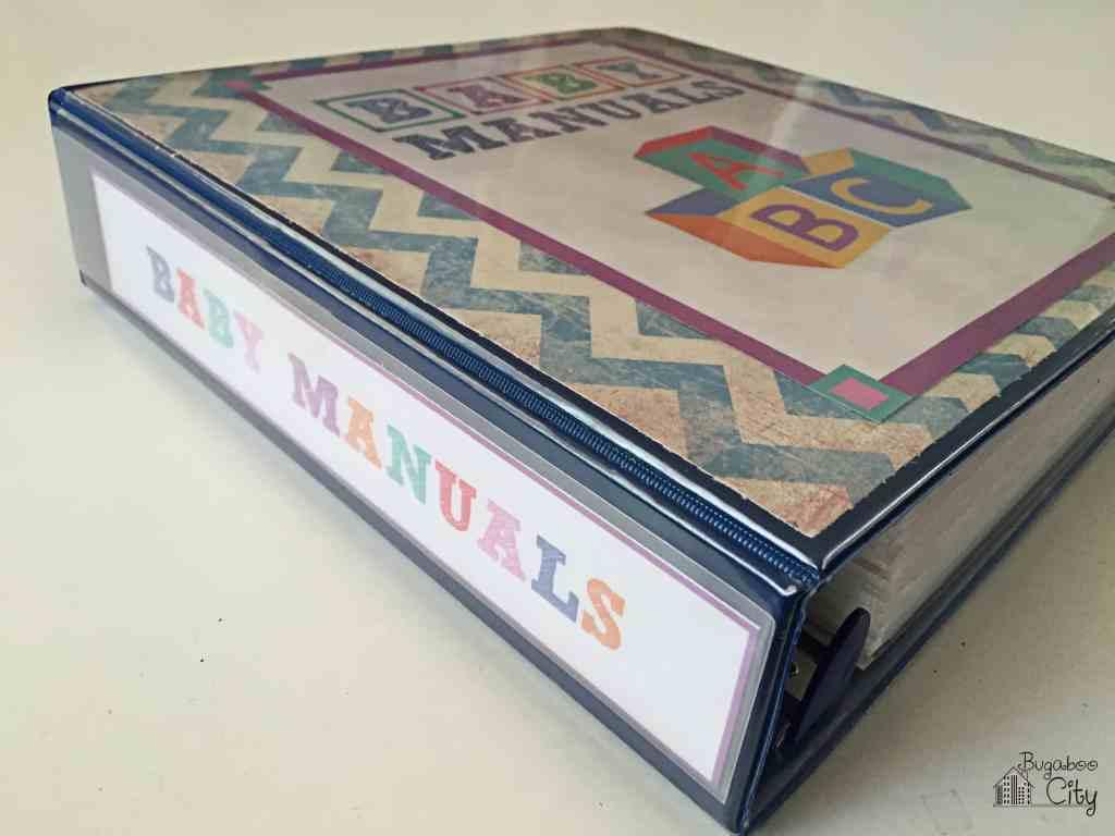 Baby Manuals Binder Printables 8