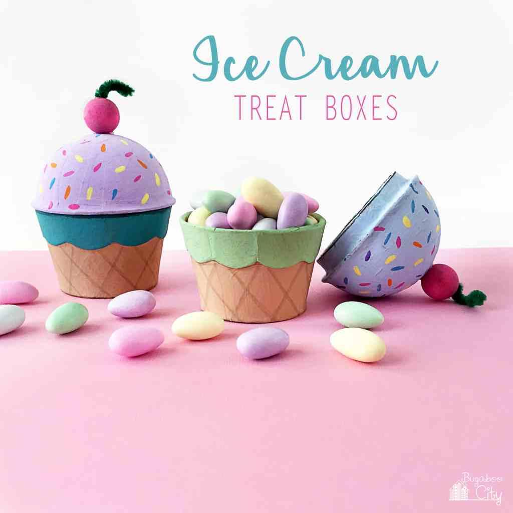 Ice Cream Cone Treat Boxes - BugabooCity