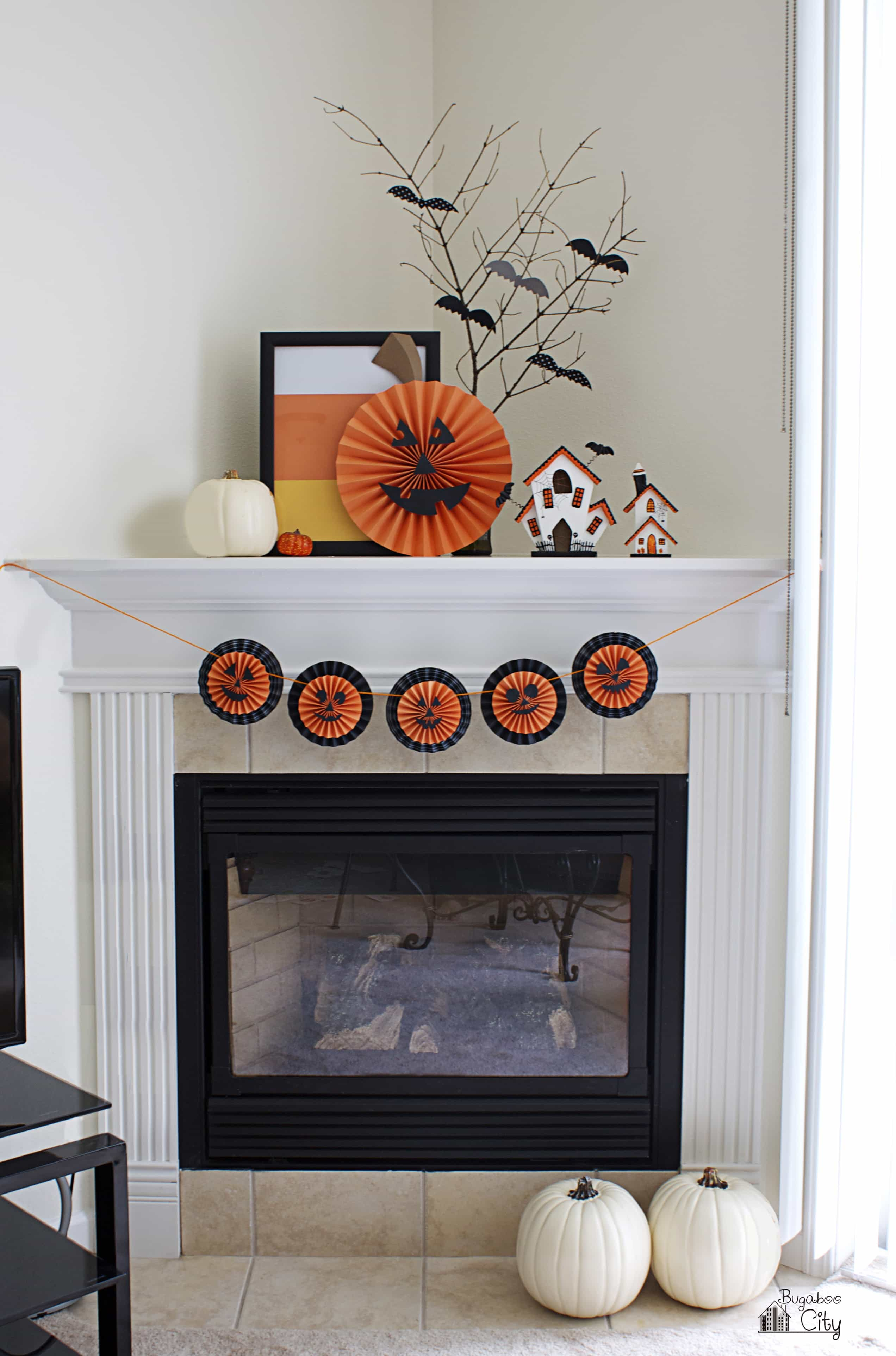 halloween garland with pumpkin medallions bugaboocity