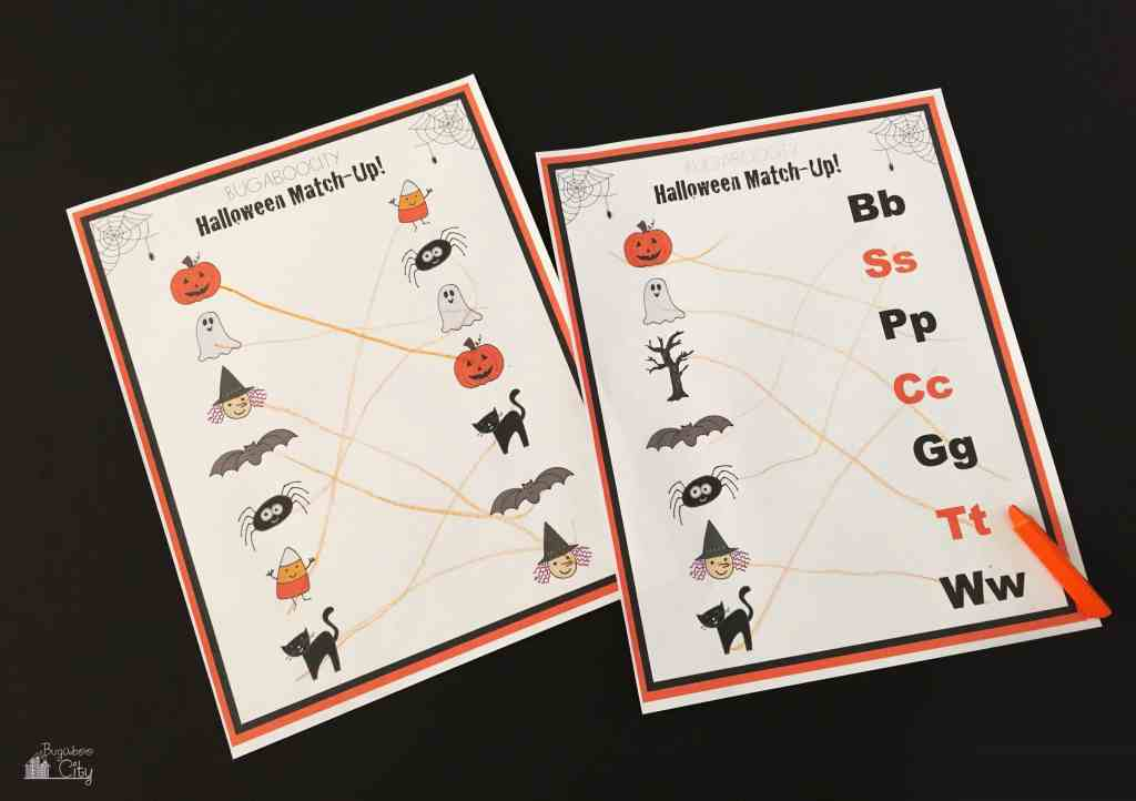 Halloween Activities with free printables4