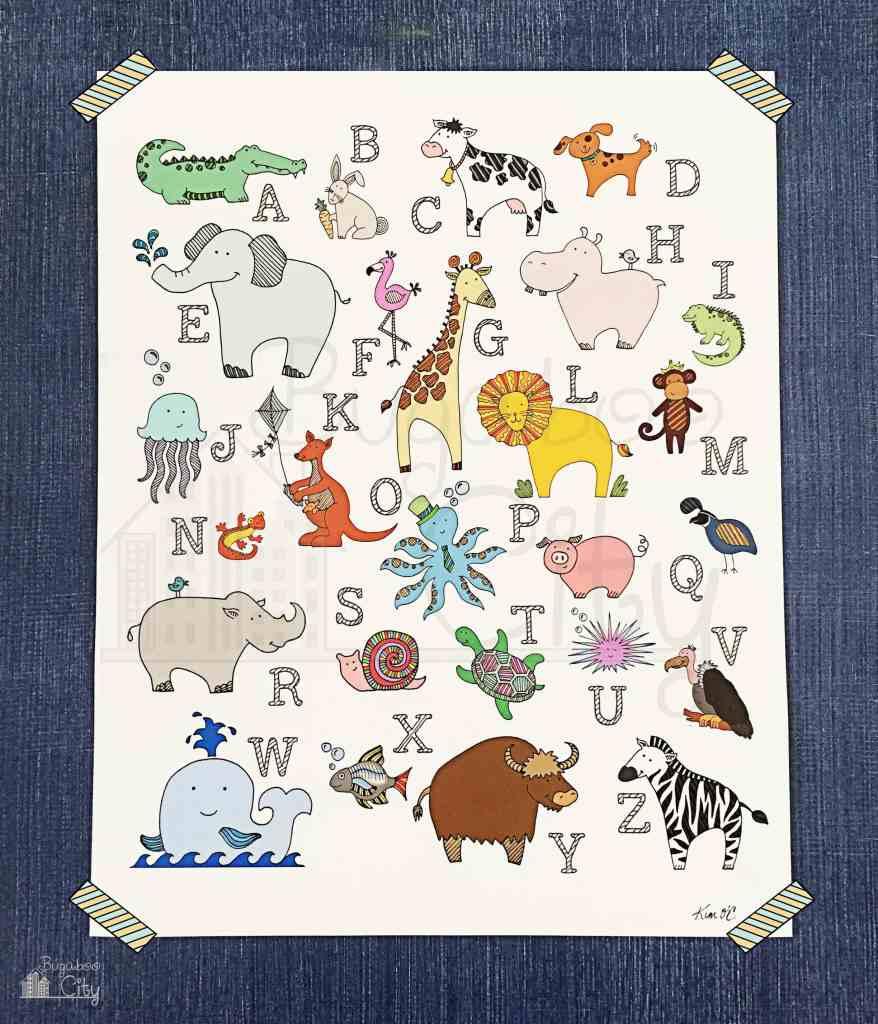 ABC Animal Nursery Artwork