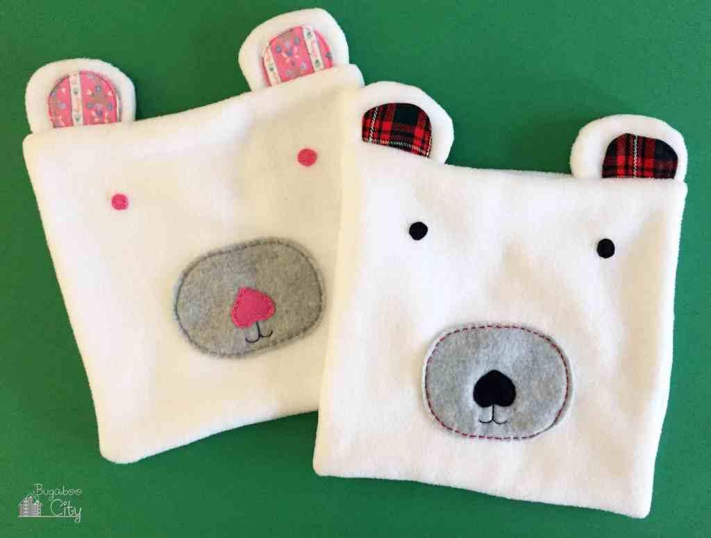 DIY Polar Bear Holiday Pillow 7