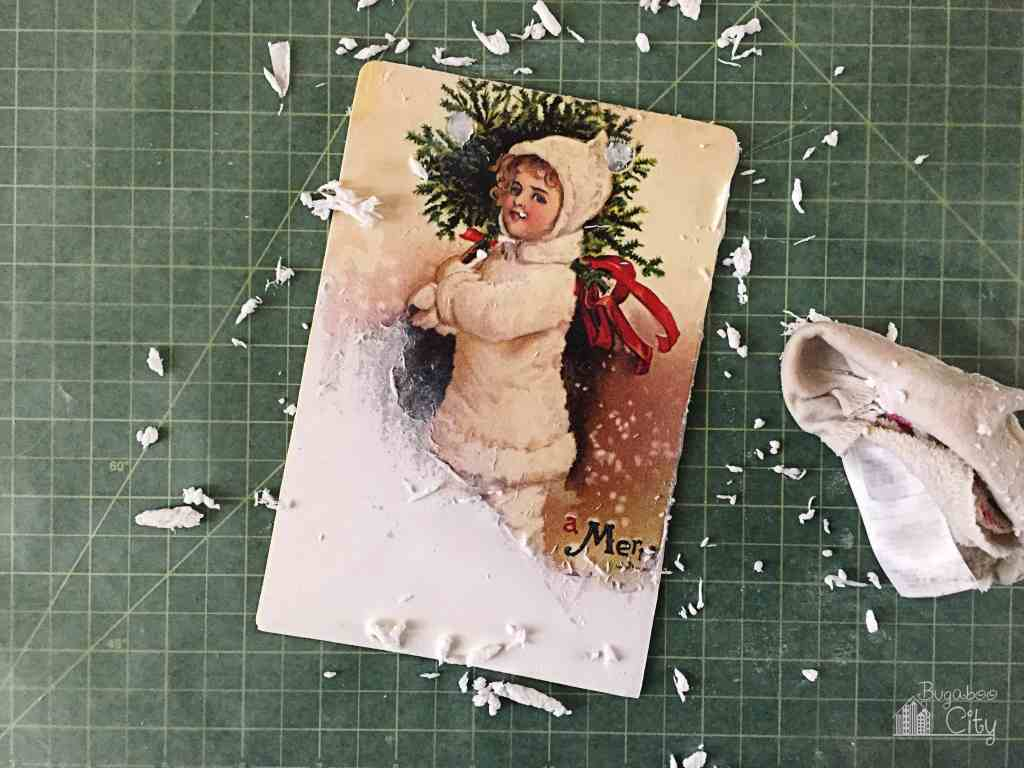 DIY Vintage Christmas Banner 4