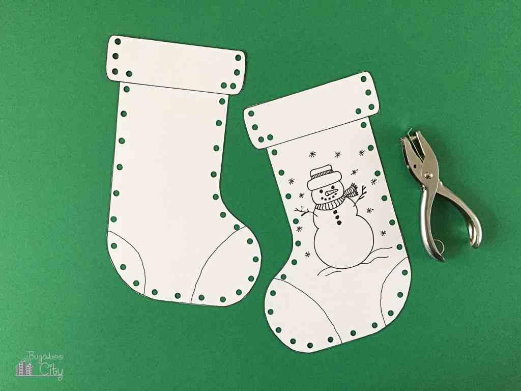 Kid's Christmas Stocking Craft