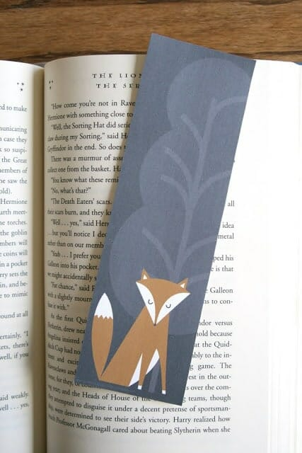 Lemon Squeezy Free Fox Bookmark
