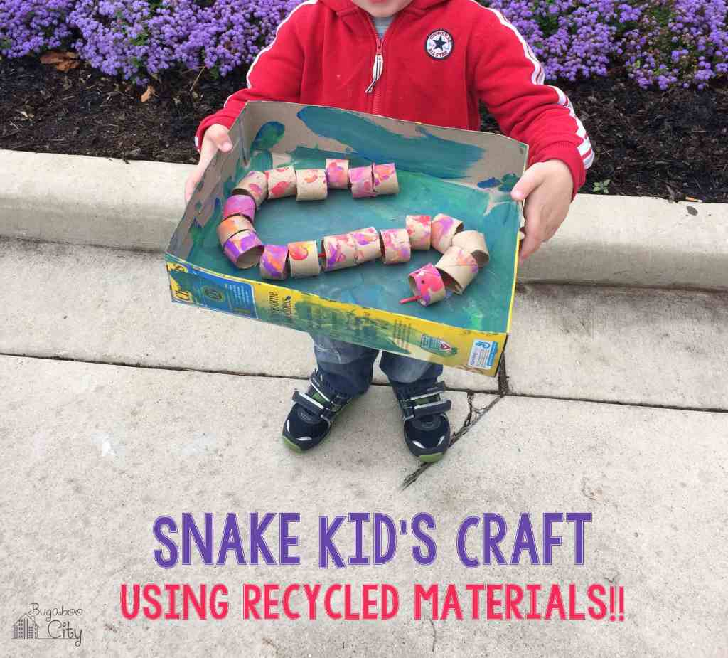 Snake Kid Craft from Recycled Materials!