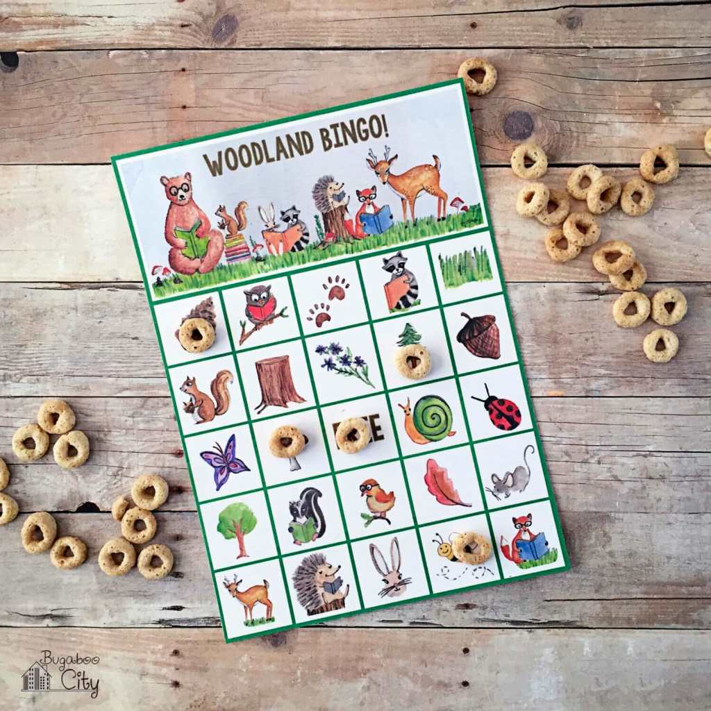 Woodland Bingo Forest Animals Bingo Free Printable