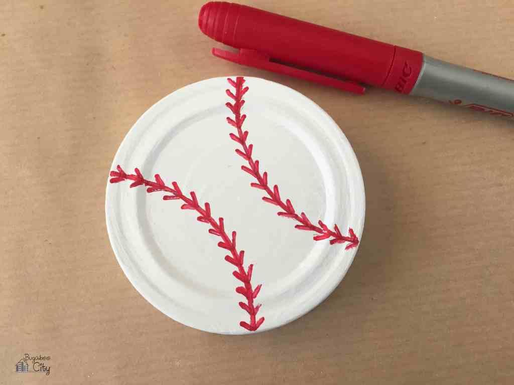 Baseball Mason Jar Gift