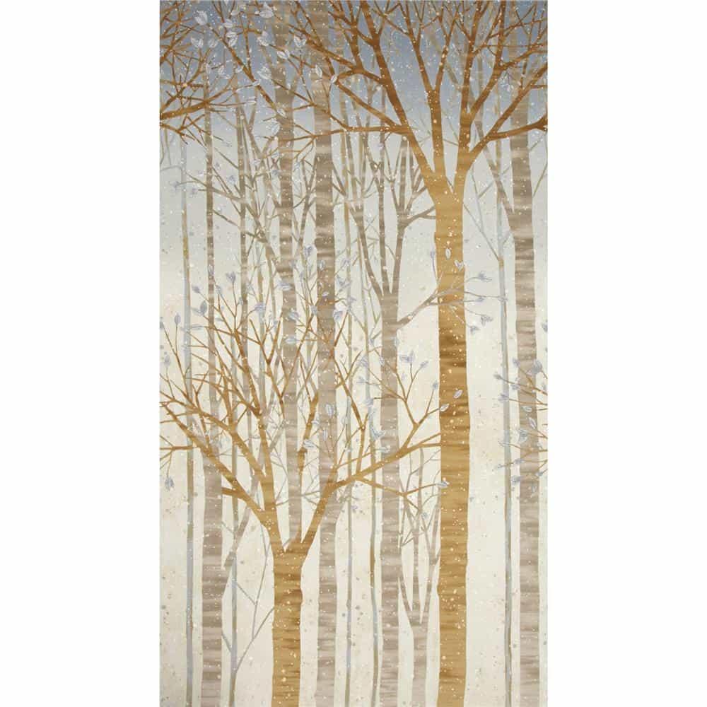 Robert Kaufman Sounds of the Woods Metallic Large Tree Shadow