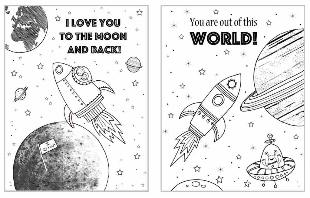 i love you to the moon and back coloring pages Outer Space Coloring Pages   BugabooCity i love you to the moon and back coloring pages