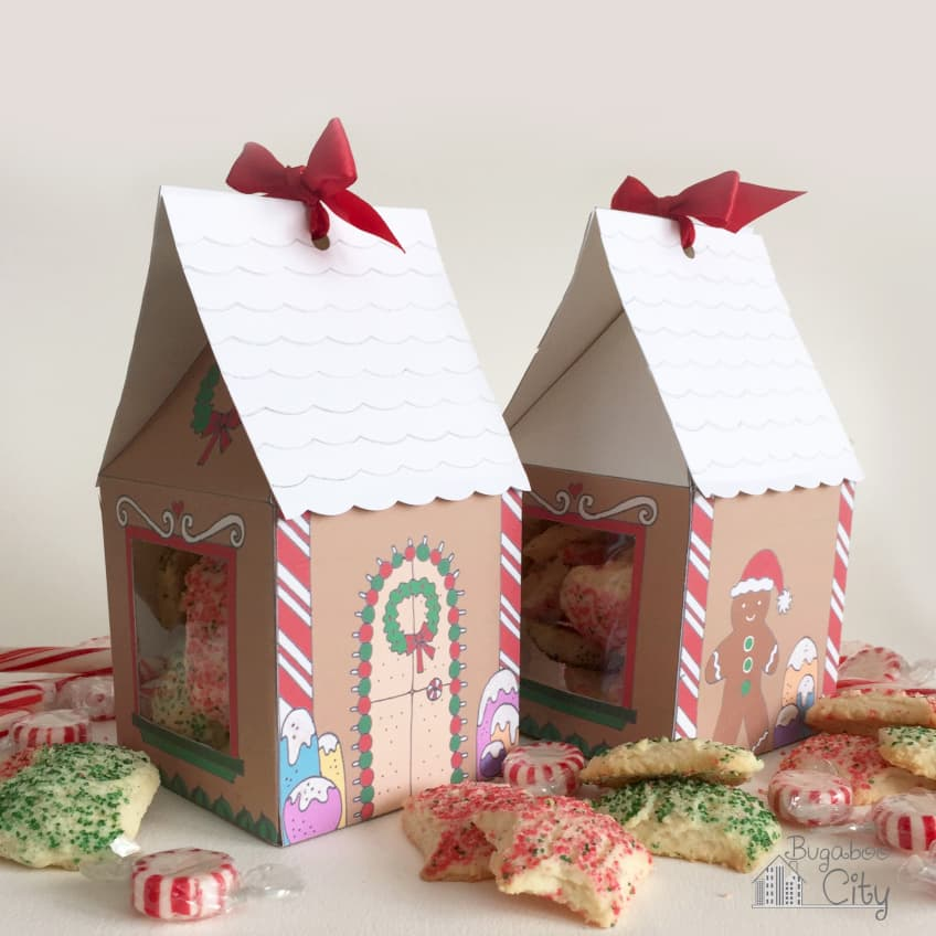 Gingerbread House Treat Boxes