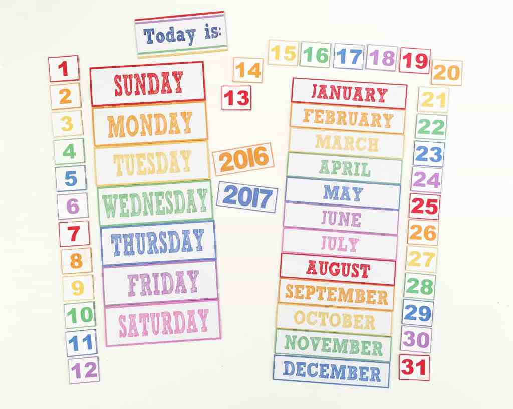 DIY Children's Calendar with free printables