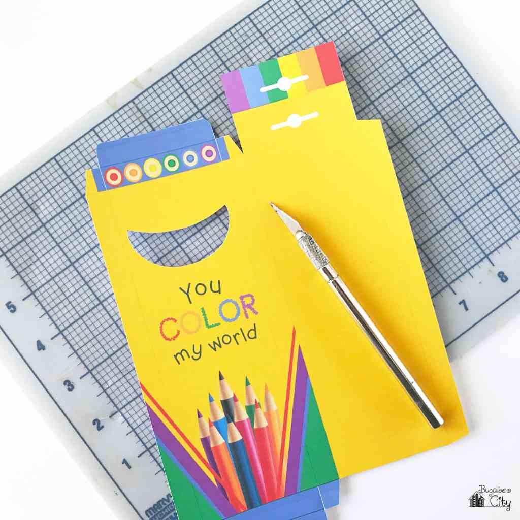 Colored Pencil Treat Box Free Printable