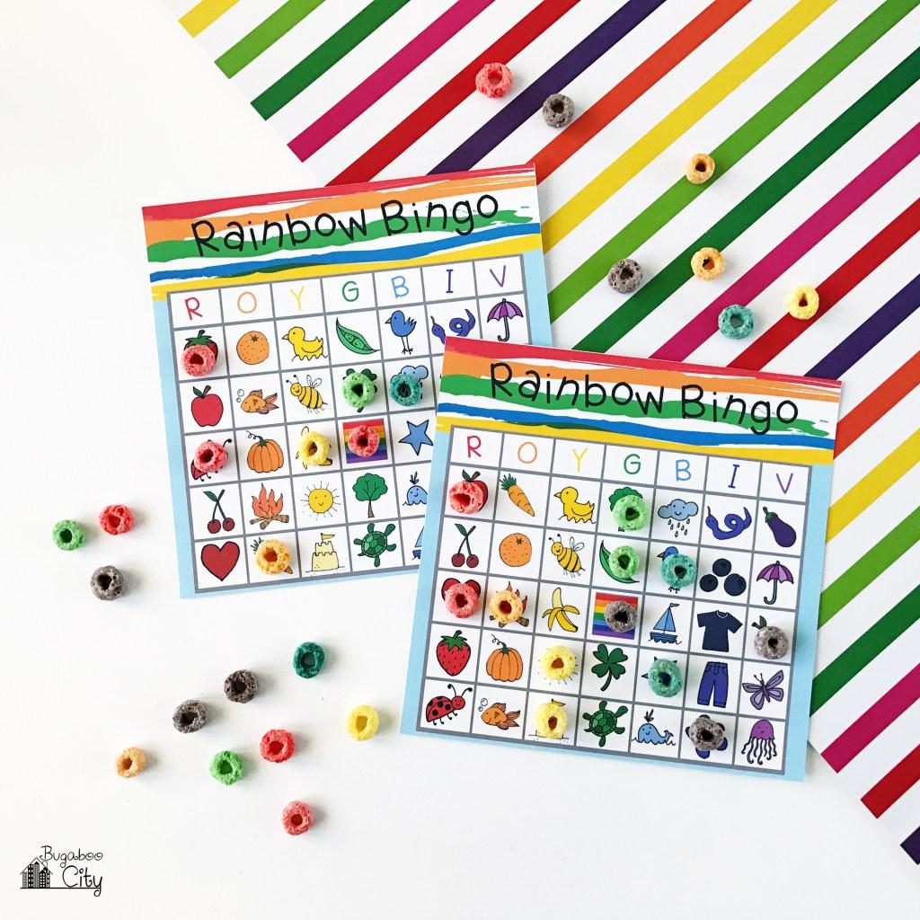 Rainbow Bingo Free Printable