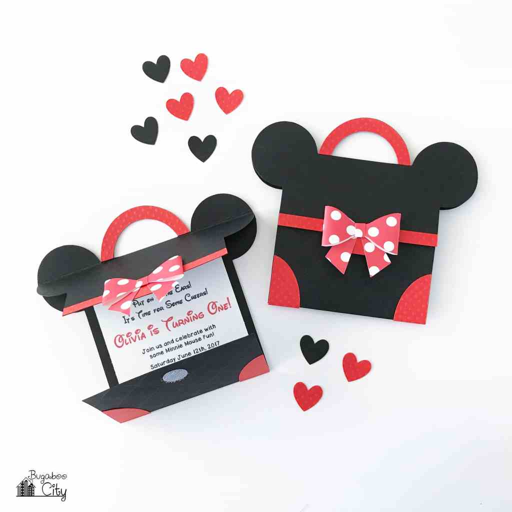 DIY Minnie Mouse Party Invitation with Free Pattern - BugabooCity