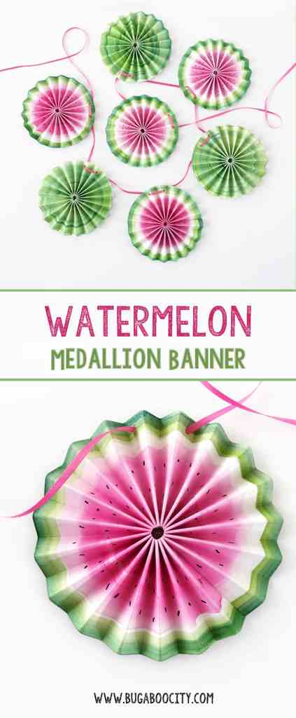 DIY Watermelon Medallion Banner