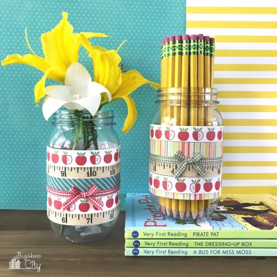 DIY Mason Jar Pencil Holder